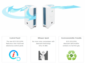 ecoair dehumidifier e7 technology saving energy power consumption
