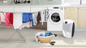 ebac 3850e dehumidifier drying laundry washing clothes indoors inside mode