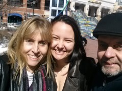 Hanging out with my mom and my uncle in Maryland
