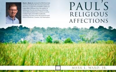 Paul's Positive Religious Affections