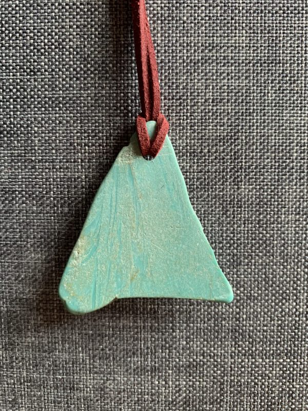 Naturally sea worn plastic pendant