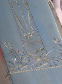 Detalj av ett kistlock.