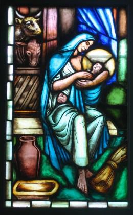 Detalj ur målningen Tofteryds kyrka.