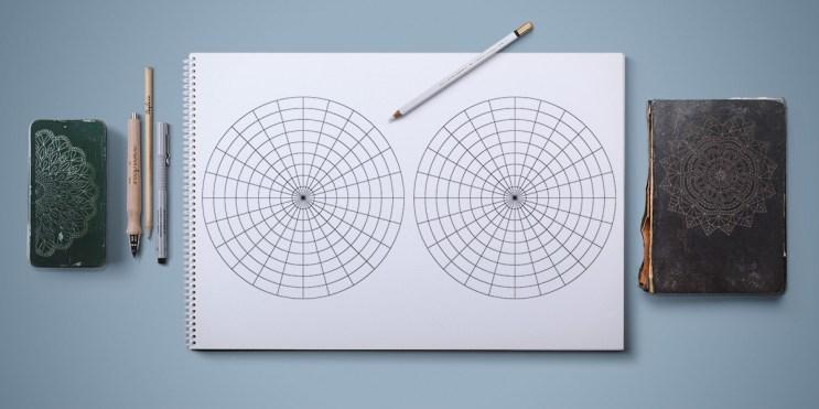 бесплатно скачать шаблон для рисования мандалы - для начинающих