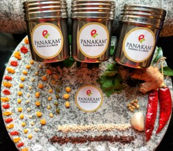 Panakam - Tradition in a Bottle - Selection of Homemade Podi's in small Stainless Steel boxes