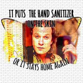 Buffalo Bill Sanitizer On the Skin