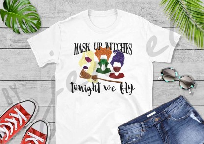 Mask Up Witches Tee