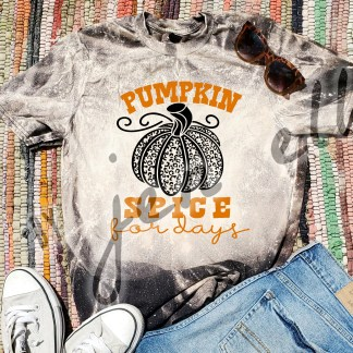 Pumpkin Spice for Days Bleach Tee