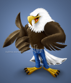 bald eagle american aguia americana careca jeans mascot design character mascote consept personagem empresa desenho passaro bird jlima