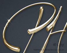 Logo design PH estudio dourado logotipo logomarca metalico metal jlima 1
