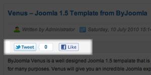 social plugin for Joomla template