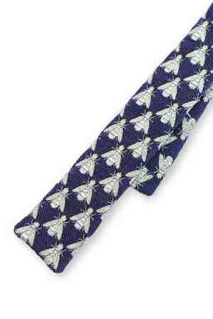 Nzinga Blue Mod necktie with bee's