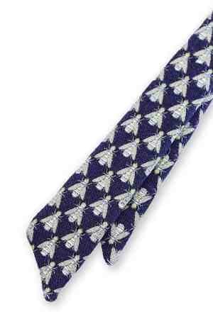 Nzinga Blue Fein necktie with bee's