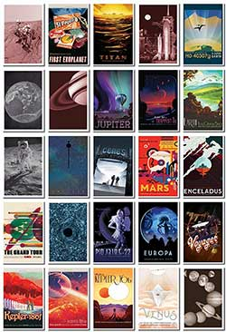 space tourism postcards