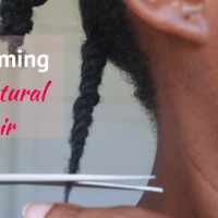 how to // trim 4c natural hair