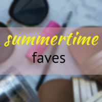 my favourite summertime items