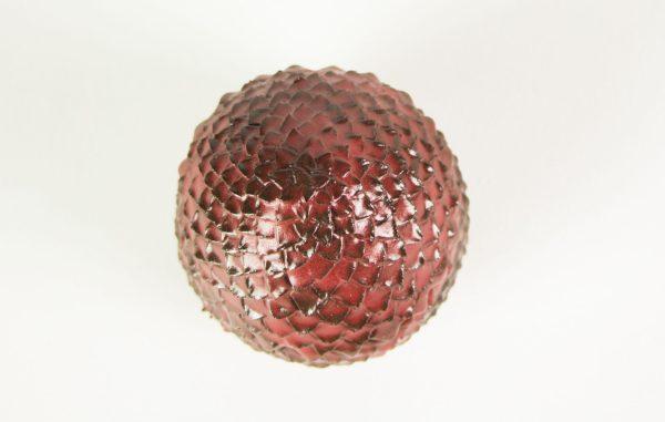 boite rouge écailles de dragon en céramique