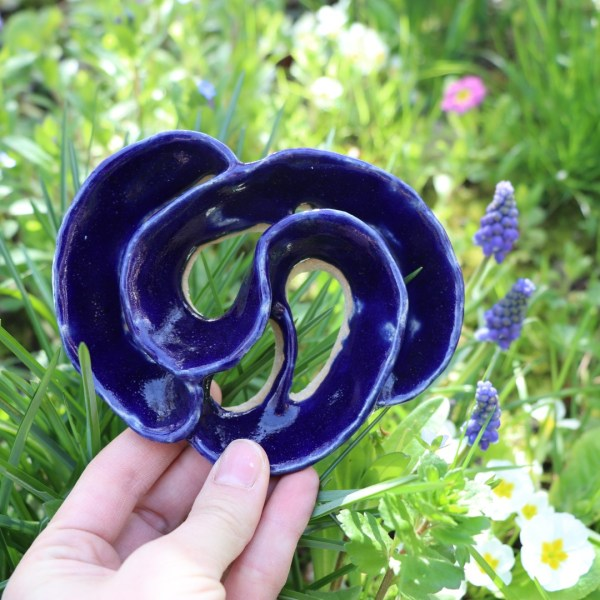 Pique Fleurs bleu foncé