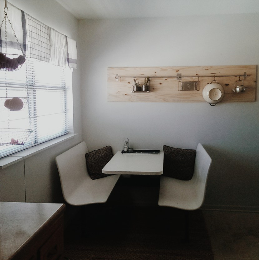 Wall Hang and table all done by my lovely husband!