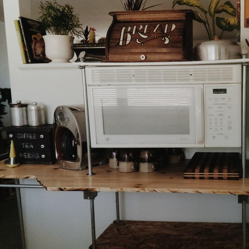 Built me a Coffee Bar / Fermentation Shelf