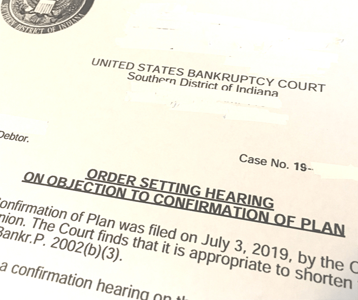Court Hearing Notice Chapter 13 Bankruptcy
