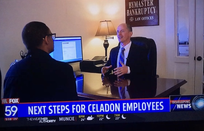 Indianapolis Bankruptcy Attorney John Bymaster being interviewed by Fox59 about the Celedon Trucking Bankruptcy