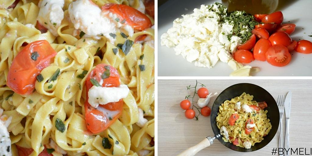 Tagliatelle di quinoa con i pomodorini