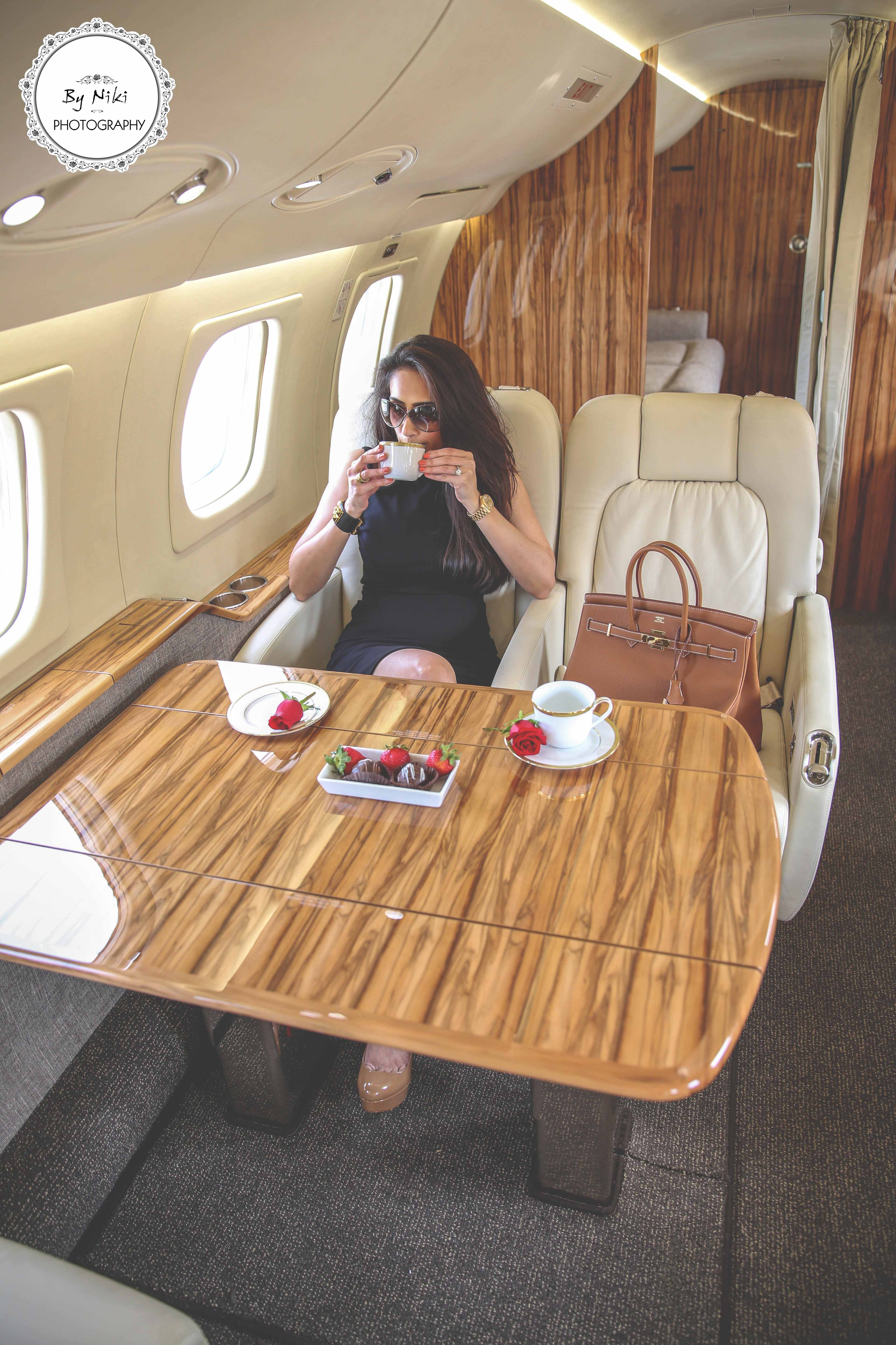 Luxury Life at 30000 Feet  By Niki Photography