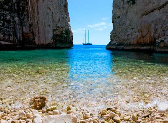 Navegar en Croacia islas de Split