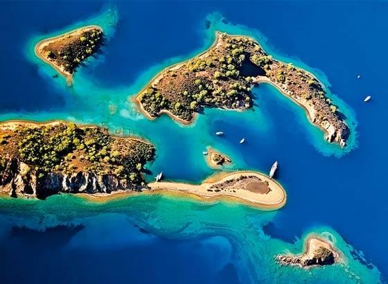 Todos los Destinos para Navegar en Barco en Turquia