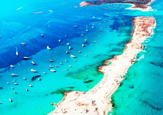 Viaje de vacaciones en velero a Ibiza y Formentera - Illetes y Es Palmador