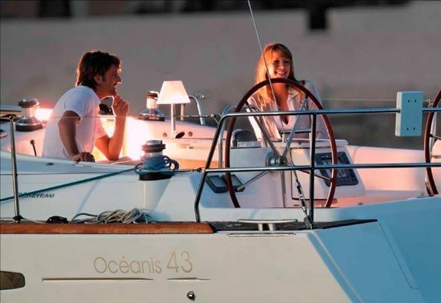 En Puerto del Alquiler de Velero Oceanis 43 en Ibiza