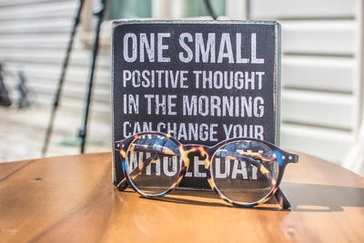 Why positive affirmations?  One small positive thought in the morning can change your whole day.