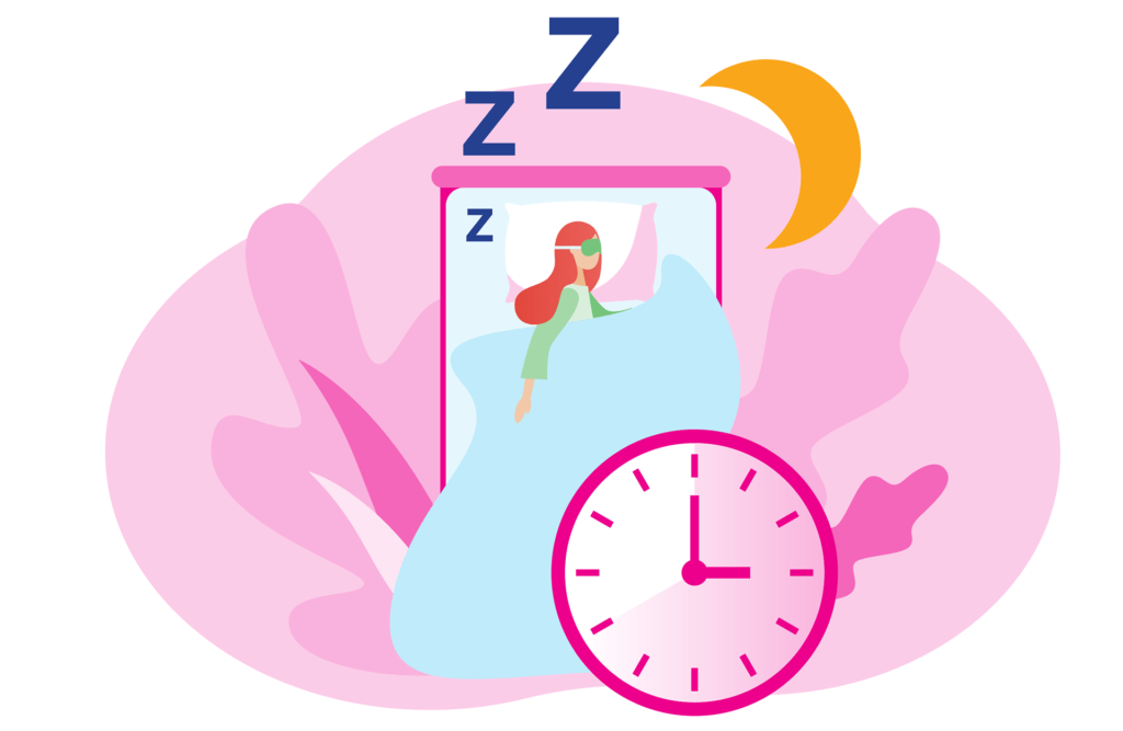 A routine to prepare for sleep helps.