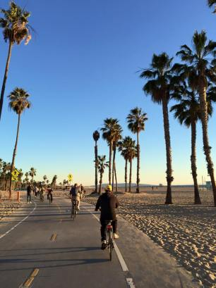 Biking at Venice Beach