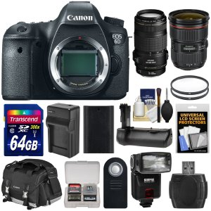 Canon EOS 6D Digital SLR Bundle with Two lenses (24-105mm70-300mm)
