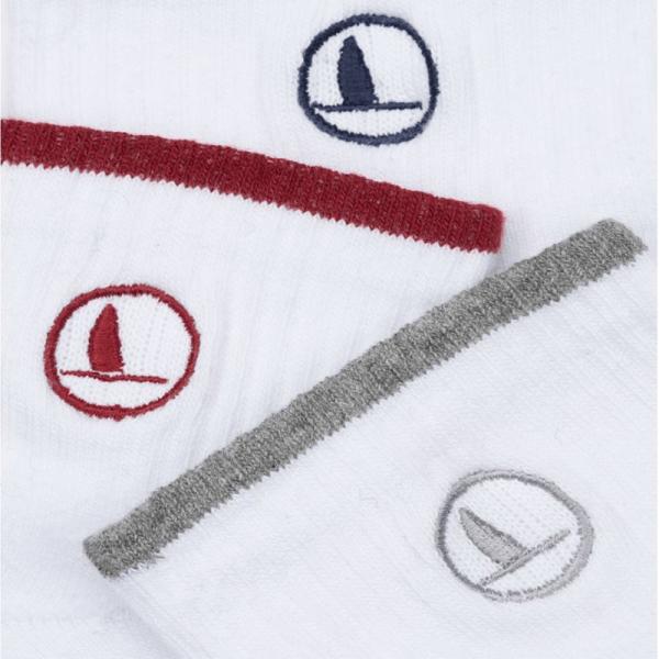 3 par sports bomulds strømper fra key west med forskellig farver i toppen