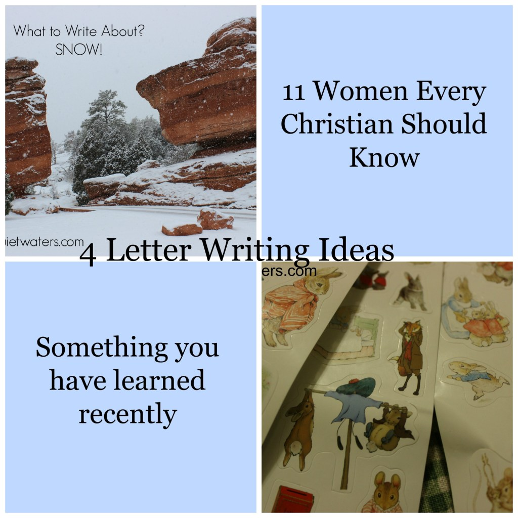 4 letter writing ideas