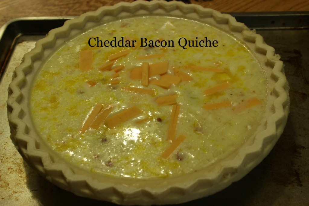 cheddar bacon quiche
