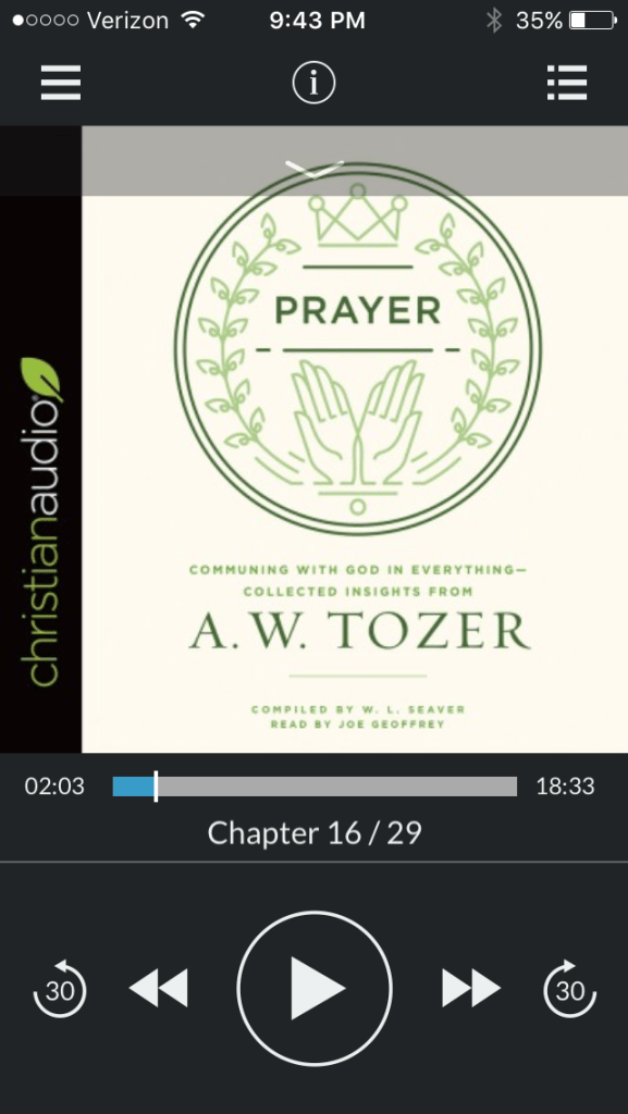 Prayer by Tozer