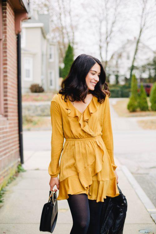 Gold Dress from Express
