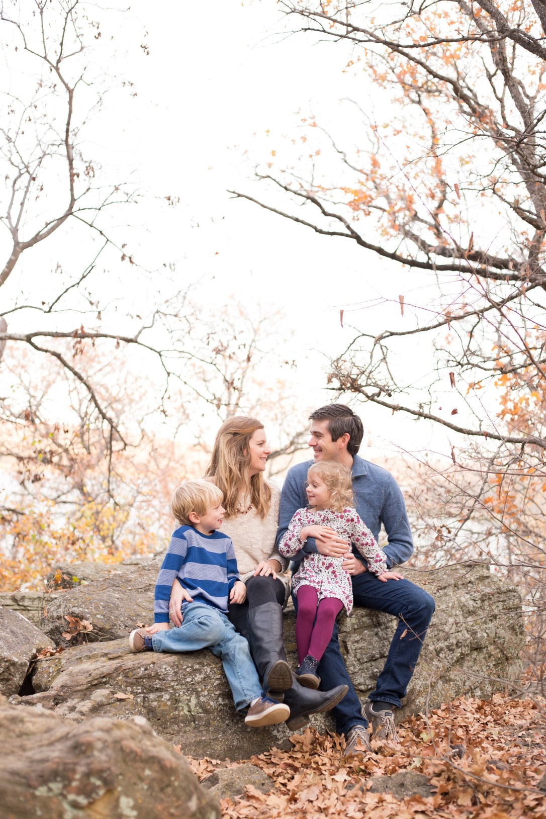Family photo at Lake Mineral Wells State Park in Mineral Wells Tx