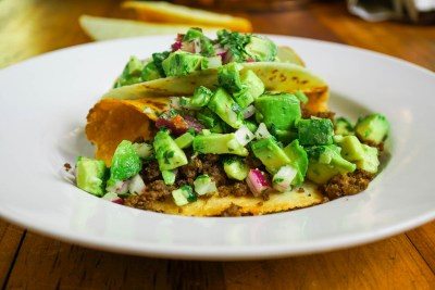 Avocado Taco Overhead View