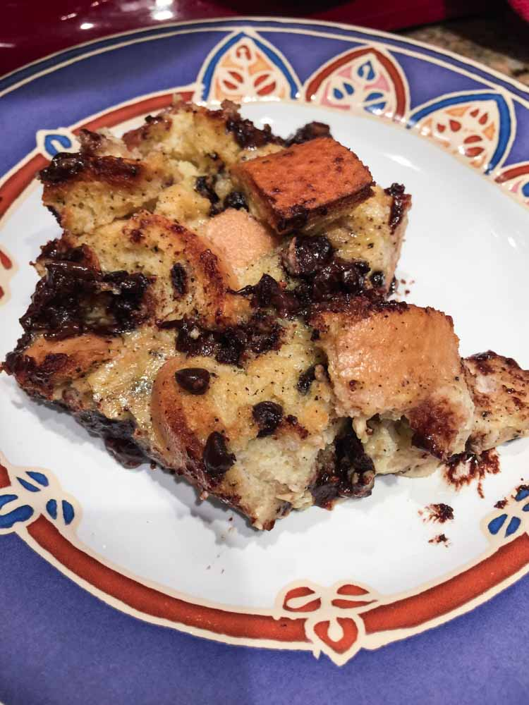 served bread pudding