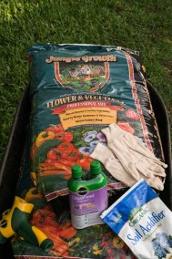 Planting soil and materials
