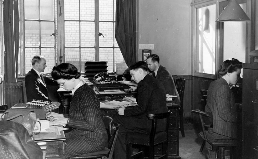 Nortraships office in London, Tanker Departement 1944 (public domain)