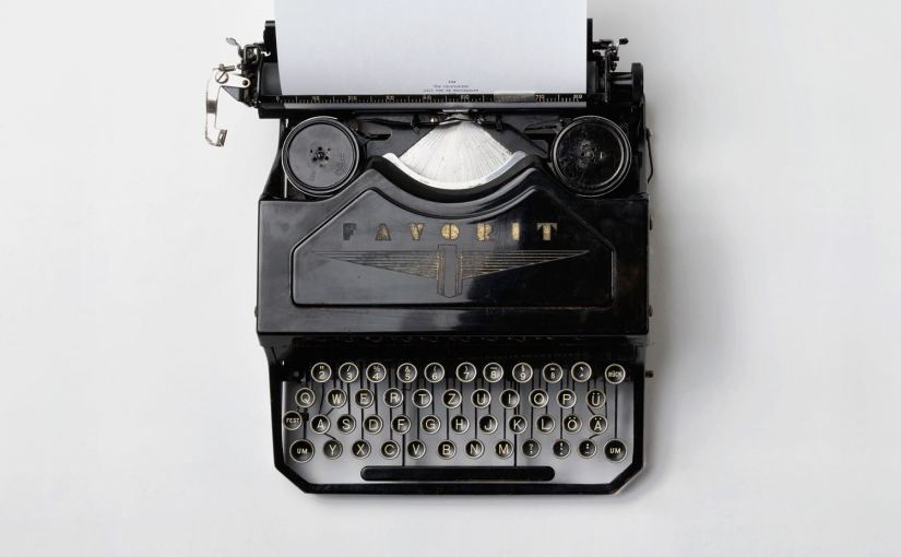 "A Favorit typewriter from above. From Nick Byrd's ""How To Write A Philosophy Paper: 4 Criteria"" by Nick Byrd"