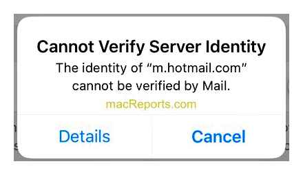 iphone, cannot, verify, server, identity