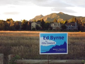 The sky has cleared and the yard signs are in