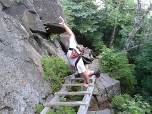 Descending Kinsman Ridge, Franconia, NH (July 2013)